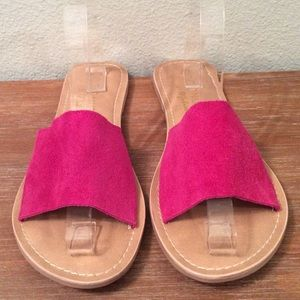Hot pink sandals made by Coconuts by Matisse. Cute
